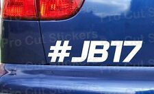 # JB17 Jules Bianchi rip memorial vinyl car bumper window stickers decals ref:10