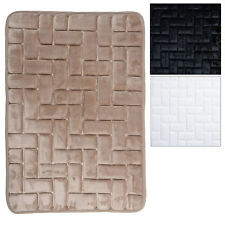 Soft Memory Foam Brick Patterned Shower Bath Mat Bathroom With Non Slip Back New