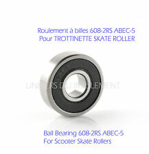 ROULEMENT A BILLES 608 2RS 8x22x7 pour TROTTINETTE ROLLER SKATE SCOOTER ABEC 5