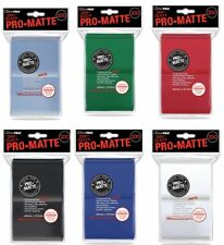 100 Ultra Pro Card Protector Sleeves : Pro-Matte - Farbe auswählen - 66 x 91mm