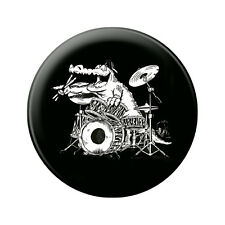 (16637) Anstecknadel Music Button 5,7 cm Pin Musik Motiv • ROCK YOU© •