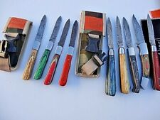 "SELECT 1 _7"" & 8"" DAMASCUS pocket folding Hunting/CAMPING knife/LOCK TO CLOSE"