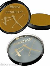 Professional Face Body Paint Smiffys FX Metallic Gold Silver Make-Up Aqua 16g