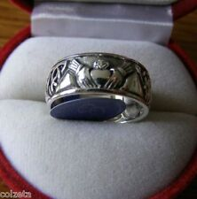 IRLANDESE CLADDAGH FEDE NUZIALE ~ in Argento sterling, Celtico