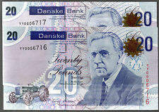 2012 YY REPLACEMENT (northern) DANSKE bank ltd belfast £20 banknote SCARCE