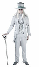 ADULT MENS EDWARDIAN VICTORIAN GHOST COSTUME XMAS SCROOGE FANCY DRESS OUTFIT NEW