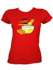 I Need Fish Fingers and Custard Ladies Red T-Shirt