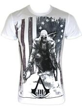 Assassins Creed III Connor Kenway White Mens T-Shirt