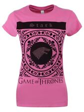 Game of Thrones Stark Circular Crest Women's Pink GoT T-shirt