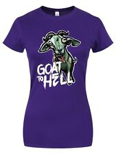 Zombie Petz Goat To Hell Women's Purple T-shirt