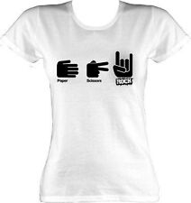 Paper Scissors Rock White Ladies T-Shirt