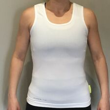 Pure Lime Double Scoop Top White Womens Large XL Gym Sleeveless Vest