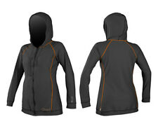 2015 Oneill Skins Ladies Lycra Hooded Cover Up Graphite Papaya Surfing