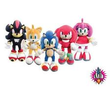 NEW SONIC THE HEDGEHOG PLUSH SOFT TOY KNUCKLES TAILS SHADOW AMY TEDDY BEAR + TAG