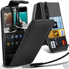 Top Flip PU Leather Phone Case?In Ear Stereo Headset for OnePlus X
