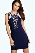 Boohoo Womens Becca Boutique Backless Lace Detail Bodycon Dress