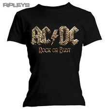 Official Skinny Ladies T Shirt ACDC AC/DC Rock or Bust Album All Sizes