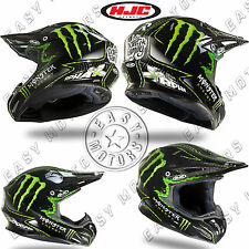 CASCO HELMET CROSS MOTARD HJC RPHA X NATE ADAMS MONSTER IN FIBRA TAGLIA XS XL