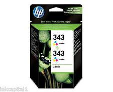 Twin Pack HP No 343 Colour Original OEM Ink Cartridges CB332EE - Deskjet