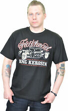 KING KEROSIN Oldschool Flathead Vintage T-Shirt - Schwarz Rockabilly