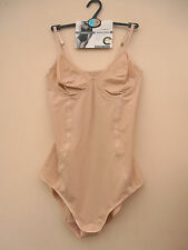 New M&S Natural Beige Secret Slimming Light Control Tummy Control Body Sz 36 B