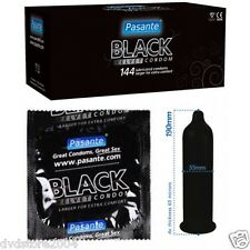 50 100 preservativi condom PASANTE BLACK VELVET  profilattici CE + omaggio Durex