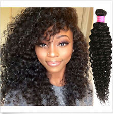 100% Peruvian/Brazilian/Malaysian Remy Human Hair Weave Extensions Kinky Curly