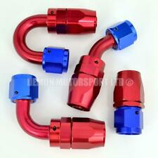 AN8 -8 8AN Braided Hose Fitting Red / Blue (Choose Angle) Demon Motorsport