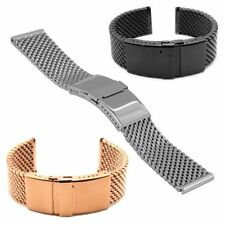 STAIB - Germany - 4,9 x 22-24-26 mm DIVER MILANAISE-BAND STAHL/SCHWARZ/ROTGOLD