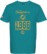 Miami Dolphins T-Shirt Tee,NFL Football,100% BW,Logo,Team,from Majestic