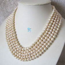 """Pearl Zone Freshwater Pearl Necklace 6-8mm Strand Pearl Jewelry 100"""" 50"""" 34"""" FR"""