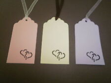 50 x Heart cut wedding / wishing tree tags - No ribbon
