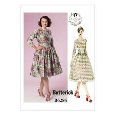 BUTTERICK SEWING PATTERN MISSES' GERTIE'S DRESS  SIZES 6 - 22  B6284