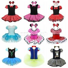 Mädchen Minnie Mouse Kostüm Ballettkleid Party Tutu Kleid Ballettanzug Gr.80-140