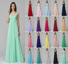 2016 Chiffon Beach Dress Long Evening Ball Gown Party Prom Bridesmaid Dress 6-18