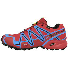 SALOMON SPEEDCROSS 3 GTX UOMO GORE-TEX SCARPE TRAIL DA CORSA RED BLUE 381543