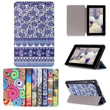 Di Stile Colorazione Folio Astuccio Custodia In Pelle Per Amazon Kindle Fire 7