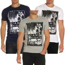 Men's T-shirt Printed Graphic Top Short Sleeve 'Miami Nights' Dissident 1C7665