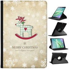 Christmas & New Year Wishes Folio Cover Leather Case For Samsung Galaxy Tablet
