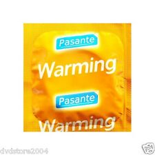 50 100 preservativi condom PASANTE WARMING profilattici CE + omaggio Durex