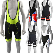Mens Cycling Bib Shorts Padded Cycle Bib Tights Shorts Outdoor Racing Team