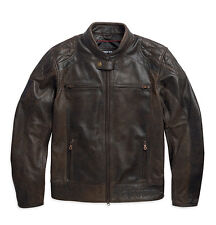 Harley Davidson Mens BLACK LABEL #1 Vintage Brown Leather Jacket 97055-15VM L XL