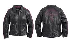 Harley Davidson Womens STARWOOD Studded Eagle Leather Jacket Bling 97022-15VW 2W