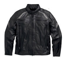 Harley Davidson Mens MEDALLION Reflective Leather Jacket M XL 2XL 98077-15VM New