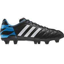 ADIDAS PERFORMANCE 11NOVA FOOTBALL BOOTS SOFT GROUND LEATHER BLACK BLUE