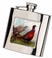 6oz Square Shooting Hunting Camping Outdoor Flask in Presentation Box by Bisley