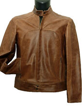 Giubbotto uomo Vera Pelle Tg. IT 48 Made in Italy New Leather Jacket