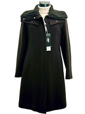 Cappotto Giaccone donna COVERI tg. 40 Lana Cashmere Nero Made in Italy New