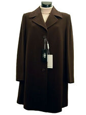 Cappotto donna COVERI tg. 48 50 Lana Cashmere Marrone Corto Italy New Wool Coat