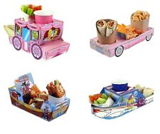 Food Tray Holder Boxes - Cars/Boat/Carriage/Jungle/Camper Van (Kids/Party)
